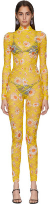 Collina Strada Yellow Daisy Lace Cardio Jumpsuit