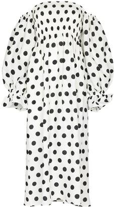 Sleeper Atlanta polka-dot midi dress
