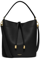 Michael Kors Miranda Medium Leather Shoulder Bag, Black