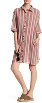 Angie Stripe Shirt Dress
