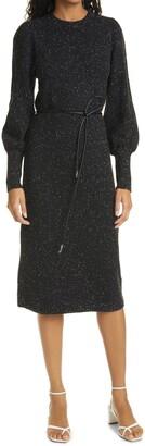 Ted Baker Faustaa Long Sleeve Wool Blend Midi Dress