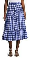 MDS Stripes Gingham Plaid Skirt