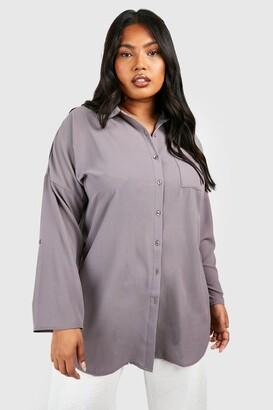 boohoo Plus Oversized Shirt