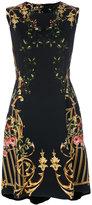 Alberta Ferretti baroque print mini dress - women - Cotton/Polyester/Acetate/other fibers - 42