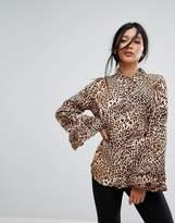 Gestuz Leopard Print Blouse