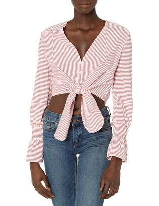 The Fifth Label Women's Anagram Stripe Long Sleeve Cropped Top