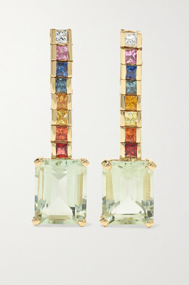 Mateo Somewhere Over The Rainbow 14-karat Gold Multi-stone Earrings - one size