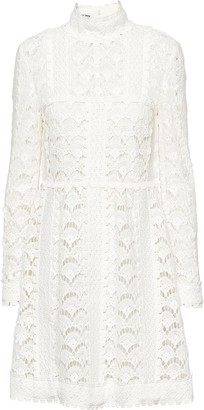 Miu Miu Raschel lace mini dress