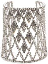 Alexis Bittar Crystal Encrusted Spiked Lattice Cuff Bracelet