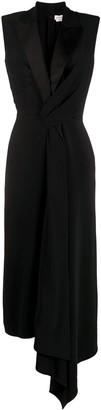 Alexander McQueen Asymmetric Draped Midi Dress