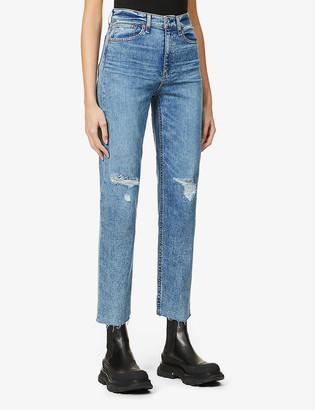 Rag & Bone Nina cropped high-rise jeans