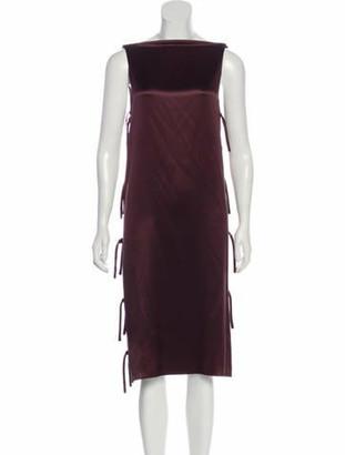 Lanvin Silk Midi Dress Plum