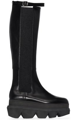 Sacai Chunky-Sole Knee-High Boots