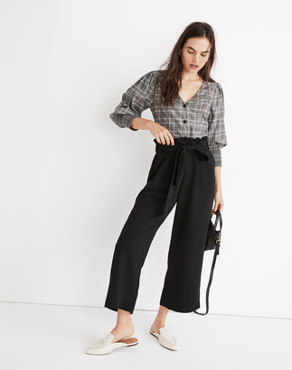 Madewell Tall Tie-Waist Huston Pull-On Crop Pants