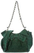 Alessandro Dell'Acqua Embellished Suede Shoulder Bag