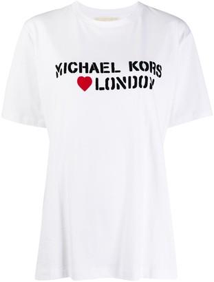 MICHAEL Michael Kors oversized logo stamp T-shirt