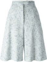 Thom Browne woven wide leg shorts - women - Silk/Cotton/Acrylic/Wool - 40