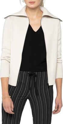 Nic+Zoe Moto Zip Knit Jacket