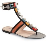 Fendi Women's 'Rainbow' Studded Colorblock Gladiator Sandal
