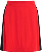 MSGM Women's Contrast Panel Skirt Orange