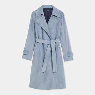 Theory Suede Trench Coat