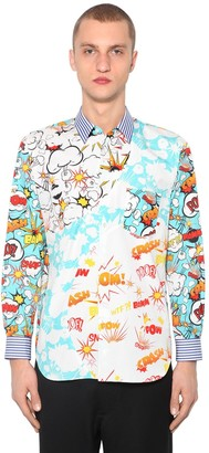 Comme des Garçons Shirt Pop Printed Cotton Poplin Shirt