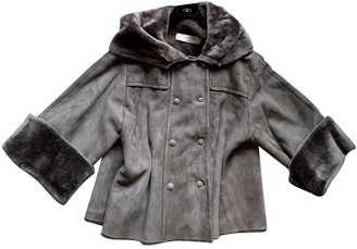 Valentino Brown Shearling Coat for Women