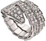 Bvlgari White Gold and Diamond Serpenti Ring