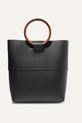 Theory Hoop Mini Leather Tote - Black