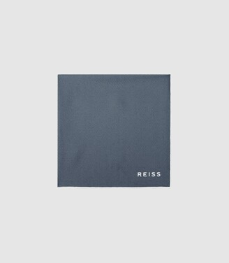 Reiss Moon - Silk Pocket Square in Silver