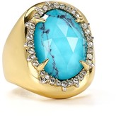 Alexis Bittar Encased Stone Cocktail Ring