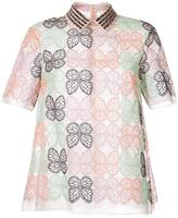 Giamba embroidered butterfly shirt
