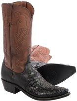 Lucchese Hornback Caiman Cowboy Boots - Snip-Toe (For Men)