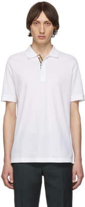 Burberry White Eddie MJ Wear Polo