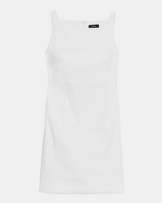 Theory Square Neck Dress in Good Linen