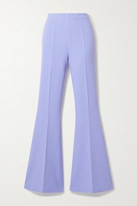 Safiyaa Halluana Stretch-crepe Flared Pants - Lavender
