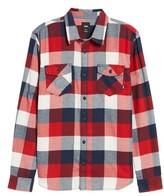 Vans Men's Trim Fit Check Flannel Woven Shirt