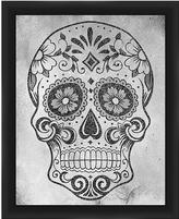 PTM Images Gray Skull Framed Print