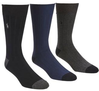 Polo Ralph Lauren Ribbed Crew Socks 3-Pack