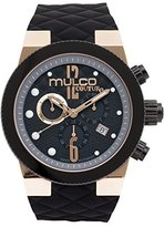 Mulco Men's MW5-2552-023 Couture Analog Display Swiss Quartz Black Watch