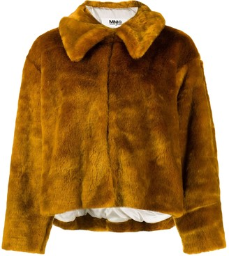 Maison Margiela Orange Faux fur Coats