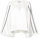 Zeus+Dione embroidered wide sleeve blouse