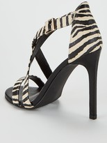 Very Priscilla Cross Strap Heeled Sandal - Zebra