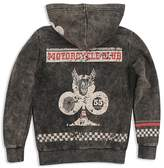 Butter Shoes Boys' Mineral-Wash Motorcycle Club Hoodie - Big Kid
