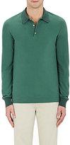 Boglioli Men's Cotton Piqué Long-Sleeve Polo Shirt