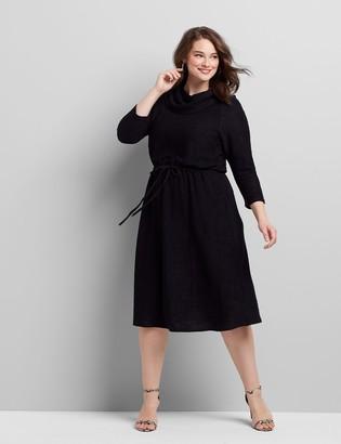 Lane Bryant Cowl-Neck Fit & Flare Dress