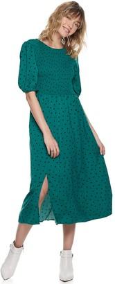 Women's POPSUGAR Smocked Bodice Midi Dress