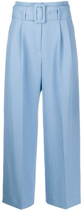 Sandro Paris Belted Wide Leg Trousers
