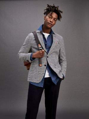 Tommy Hilfiger TH Flex Houndstooth Check Blazer