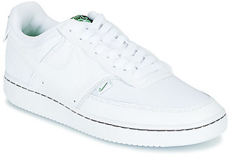 Nike COURT VISION LOW PREM women's Shoes (Trainers) in White